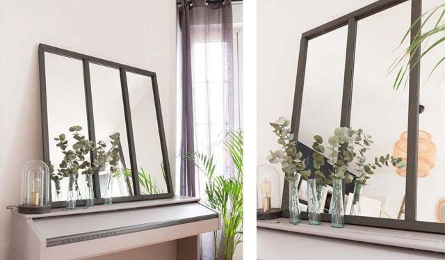 Tuto Fabriquez Tres Facilement Un Miroir Esprit Verriere Avec Images Miroir Verriere Miroir Verriere Diy Miroir A Poser
