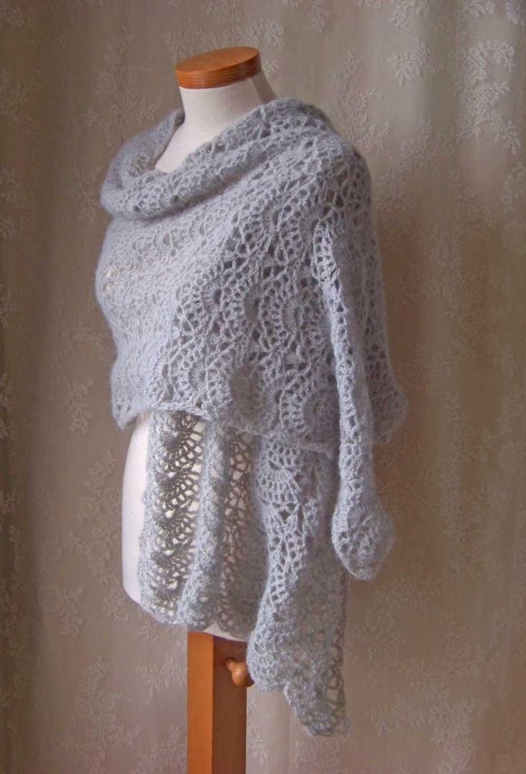 SILVER Crochet shawl pattern PDF by BernioliesDesigns on Etsy, $5.00