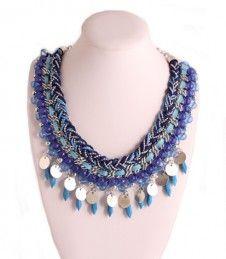 Ketting kort gevlochten koord en metalen - 3500266939 - ketting - bijoux op Shine dames accessoires