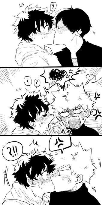 Sharing kisses XD | K A T S U / T O D O D E K U | My hero