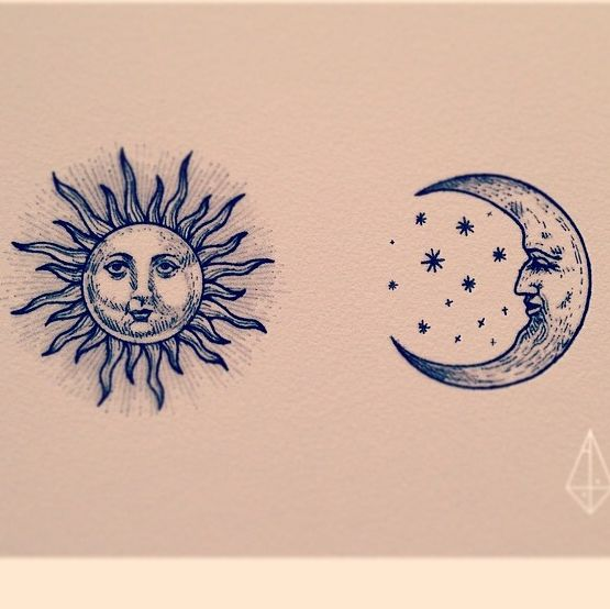 #tattoo #sun #moon