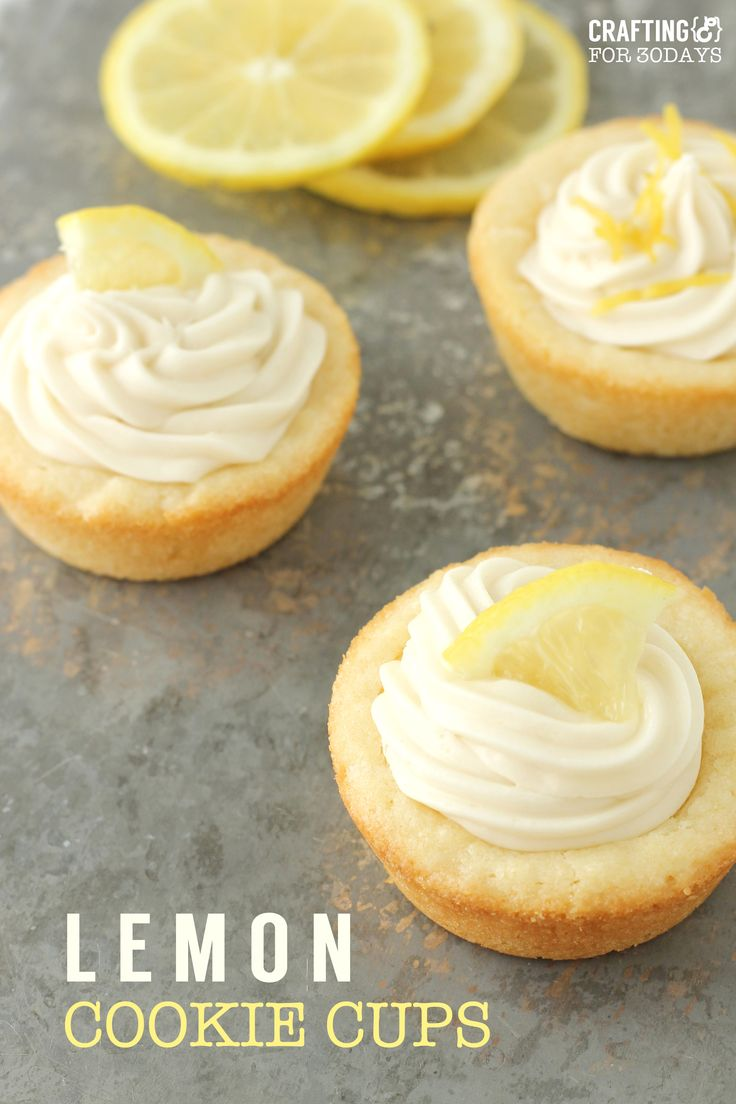 Simple to make Lemon Cookie Cups that are perfect for spring!
