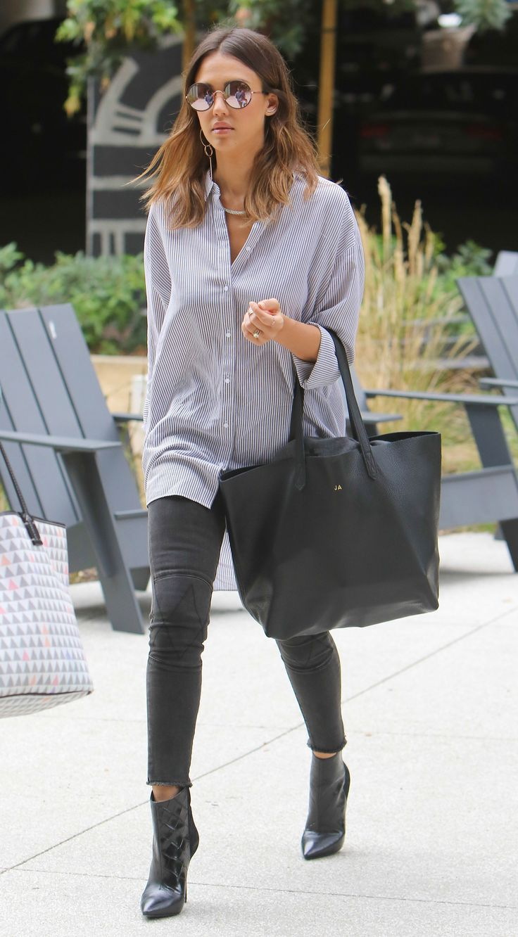What Jessica Alba Wears to the Office via @WhoWhatWearUK