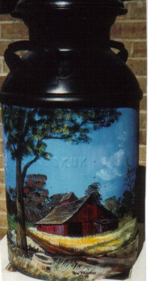 17 Best Images About Painted Milk Cans On Pinterest