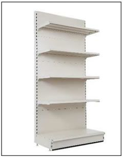 convenience store wall shelving unit