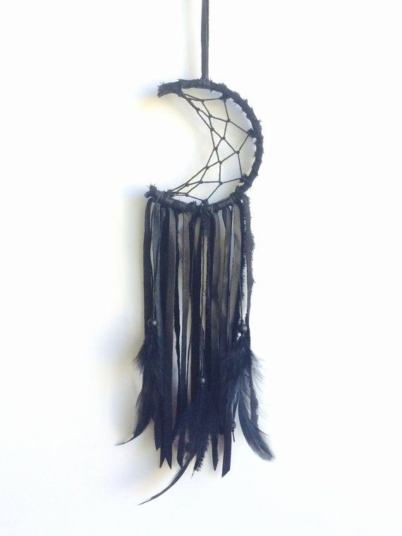 Mini crescent moon dreamcatcher custom order by fujiyamamamamai