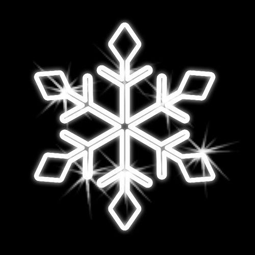 Snehová vločka vianočná - 2D - 500mm - OVL 04-L
