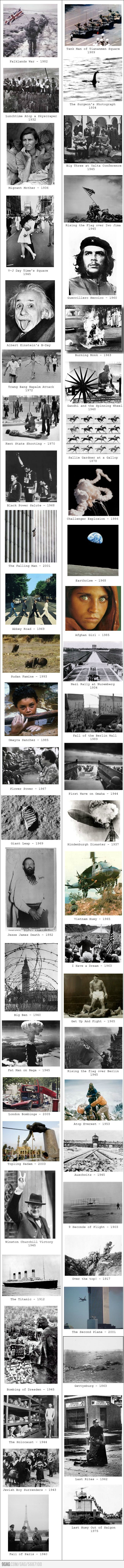 Iconic Pictures of the World. I want to take some amazing photos one day. these are so sad i cried
