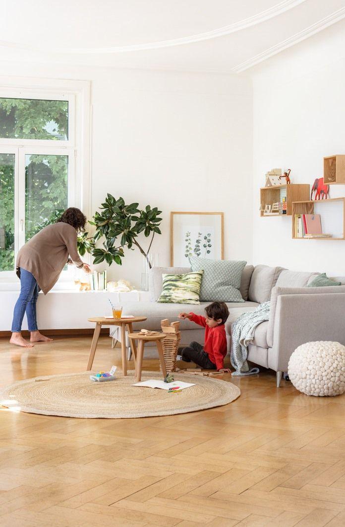 Micasa Wohnzimmer mit Ecksofa DEGONDA & Beistelltisch ARLENE