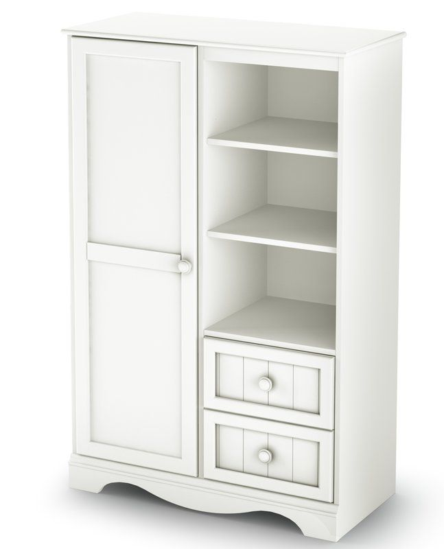 Savannah 2 Drawer Armoire Wardrobe Storage Cabinet Wardrobe