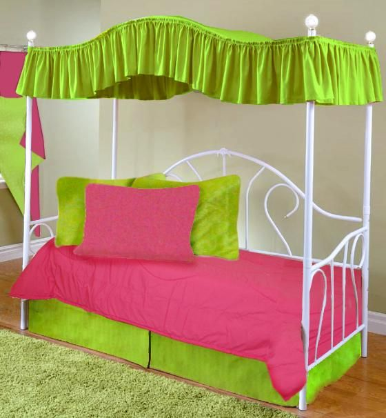 Canopy Covers for Twin Beds | Hot Pink Full Size Canopy Top Fabric Bed Cover in & 8 best Bedroom Ideas for Chloey and Lizzie images on Pinterest ...