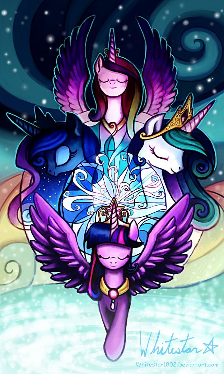 Princess luna cadence and celestia my little pony - Princesse poney ...