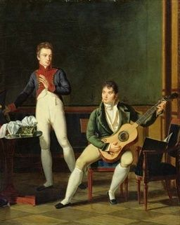 File:Musician and his family.jpg (Possibly Fernando Sor) http://commons.wikimedia.org/wiki/File%3AMusician_and_his_family.jpg