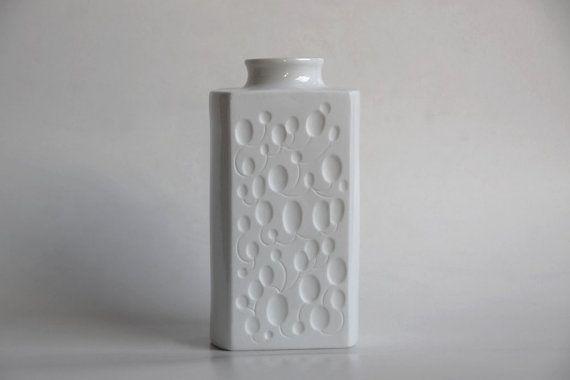 Jahrgang Op Art Bisque Vase  Königlich Tettau 60er von 1001vintage