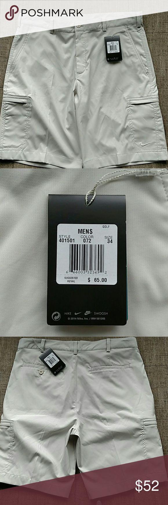 NWT NIKE ATHLETIC SHORTS NEW Nike GOLF Men's Shorts Size 34 Style:   401501 Color:.  072 Nike Shorts Athletic
