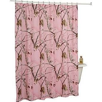 Bass Pro Shops RealTree APC Pink Shower Curtain