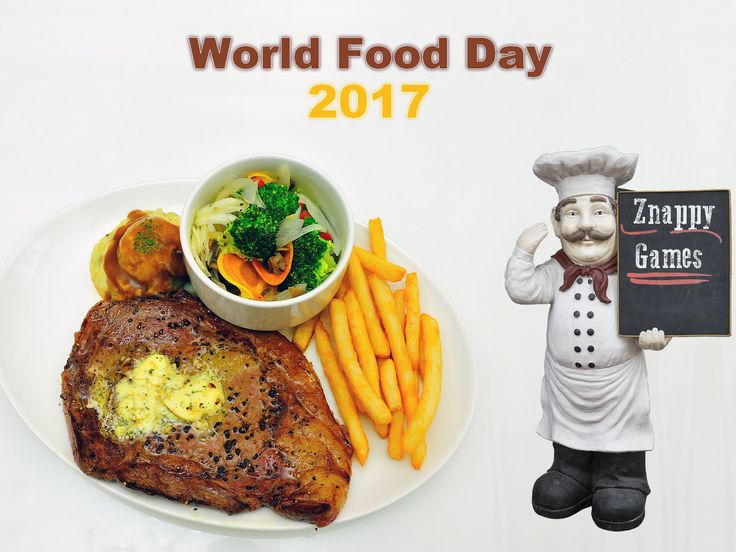 🍔 Today is World Food Day! What is the last food you cooked? 🍔  #WorldFoodDay #ZnappyGames #ZnappyFood
