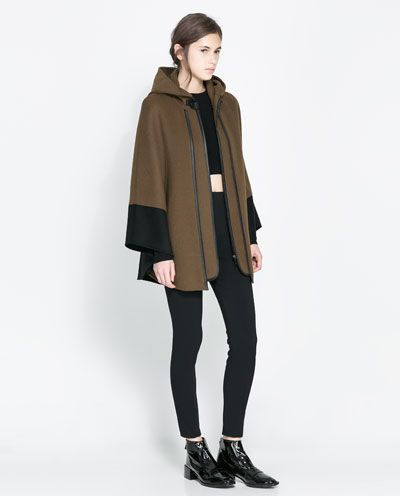Image 1 of COMBINATION CAPE from Zara