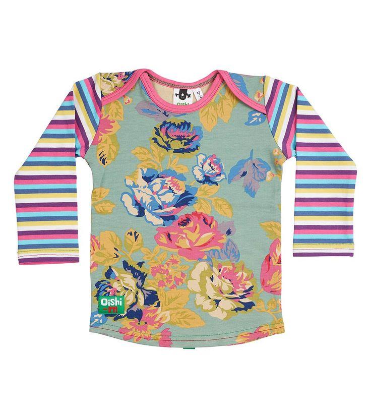 Sea Glass LS T Shirt, Oishi-m Clothing for Kids, Autumn 2018, www.oishi-m.com