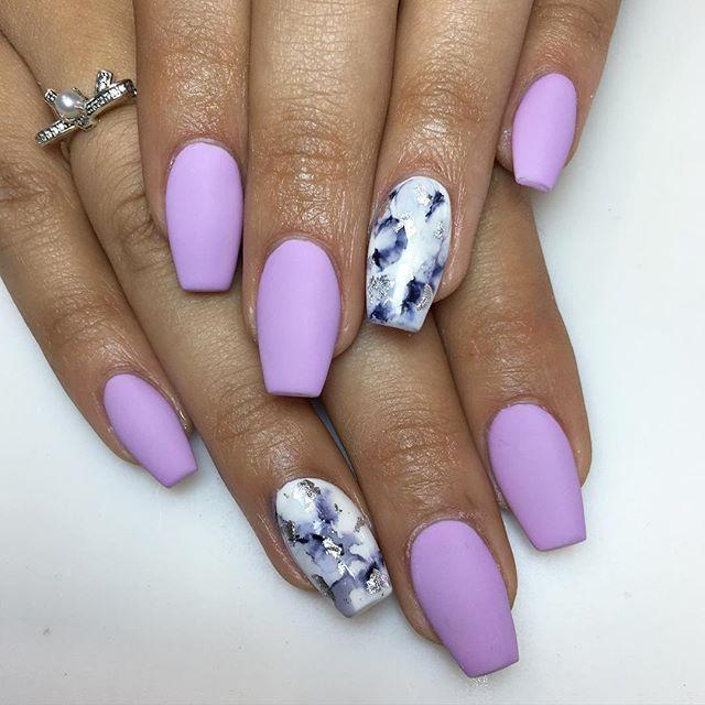 Coffin Nails Kortenstein Lilac Nails Purple Nails Nails