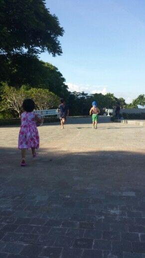 Kids running amok, Nusa Dua, bali
