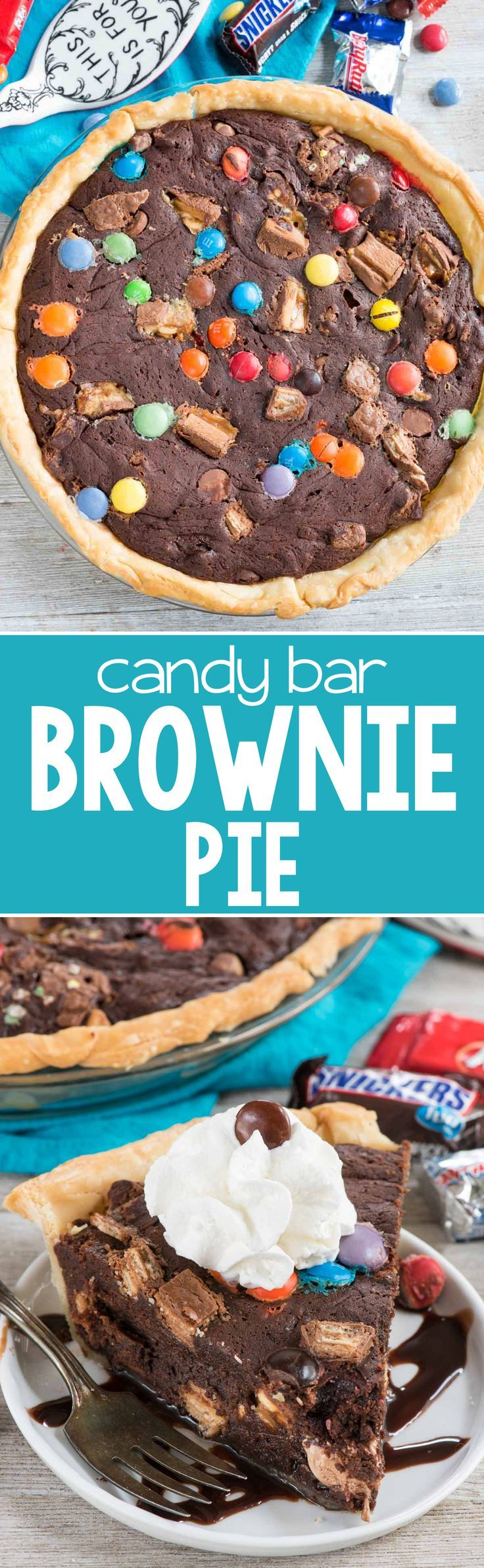 Slow Cooker: Candy Bar Brownie Pie - Crazy for Crust