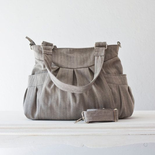 Shoulder bag  messenger bag  crossbody bag in cotton by milloo, $75.00