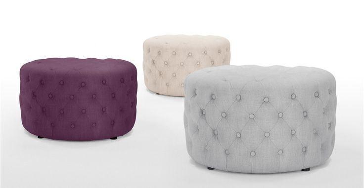 Blakes Small Round Ottoman in persian grey | made.com