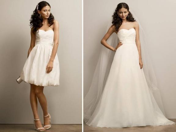 Best 25 detachable wedding skirt ideas on pinterest for Stella york convertible wedding dress