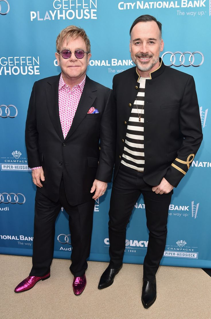David Furnish and Elton John, together since 1993, married since 2014.