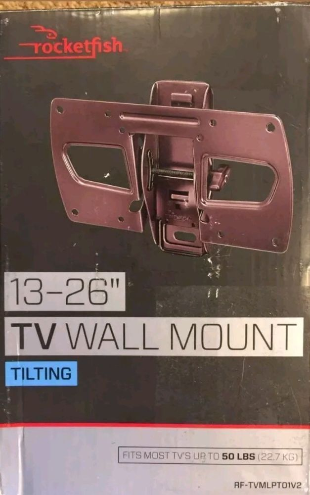 Rocketfish 13 26 Tilting Low Profile Tv Wall Mount Rf Tvmlpto1v2 Up To 50 Lbs