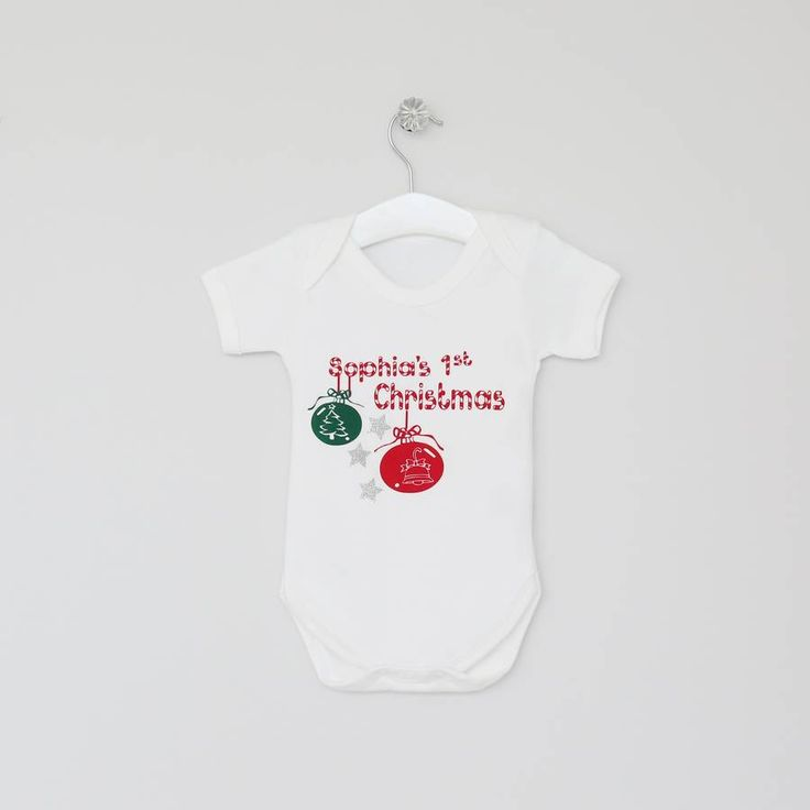 Personalised Christmas Bauble Bodysuit