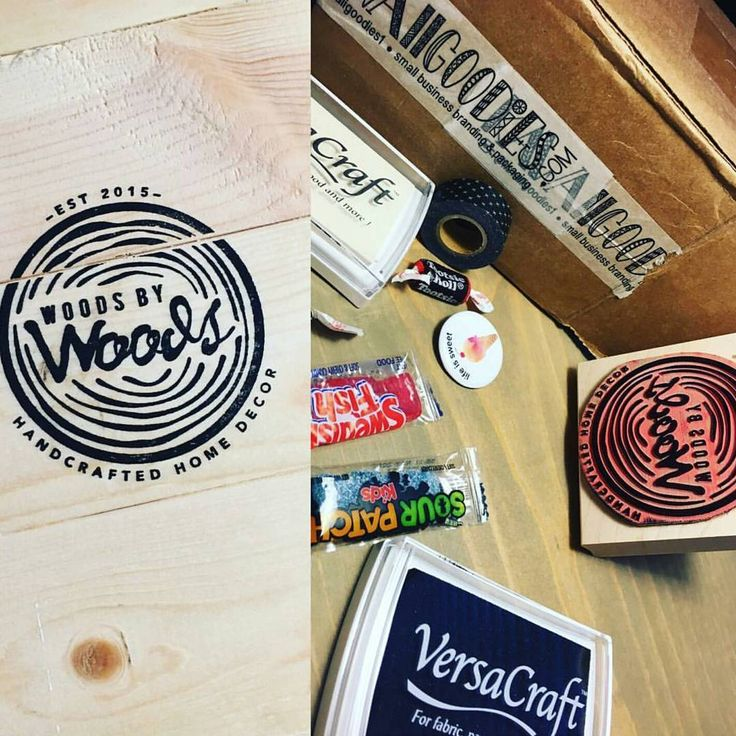 STAMPS | Custom Small Business Stamp Wood Signs