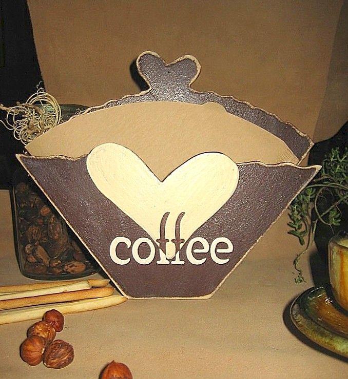 griffbereite KAFFEEFILTER - eine Aufbewahrung im englischen Stil -