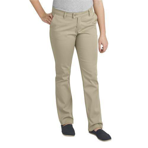 Dickies Juniors' Schoolwear Slim Fit Straight Leg Stretch Uniform Pant (Desert Sand, Size 13/14 Junior) - School Uniforms, Girls Uniform Bottoms at...