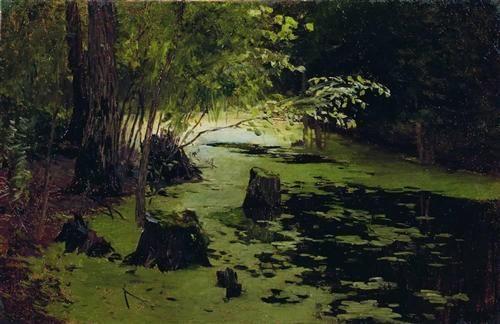 Water margin (A pond) - Isaac Levitan