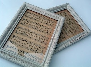 Print out your favorite song on vintage paper and frame it for the perfect wall piece