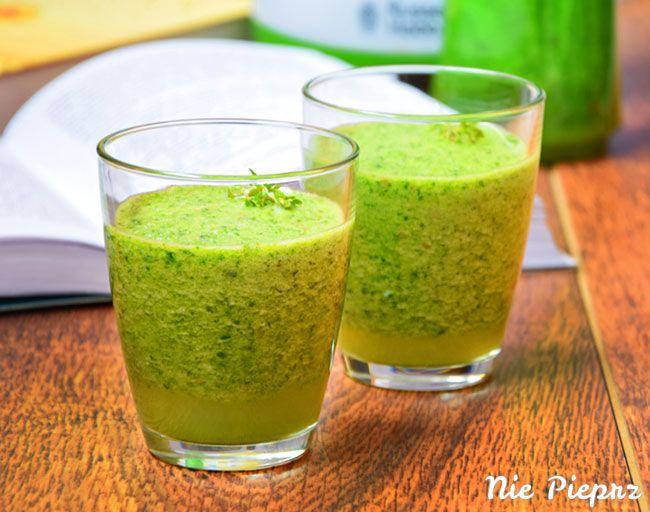 Zielony koktajl z rzeżuchą