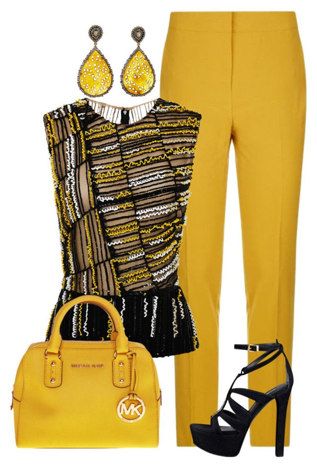 Sin título #1267 by marisol-menahem on Polyvore featuring мода, J. Mendel, Pinko, GUESS, Michael Kors and J/Hadley