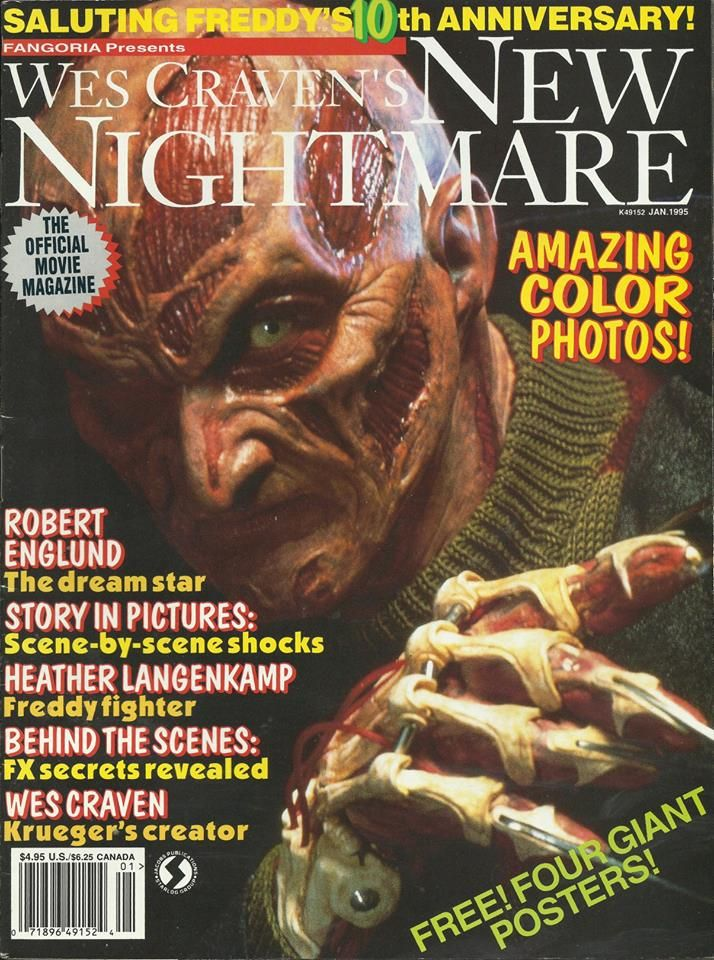 fangoria new nightmare Horror movie posters, Freddy