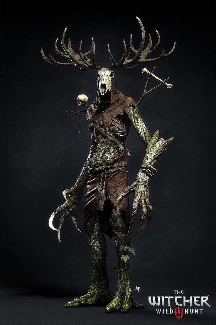 ArtStation - The Witcher III - Leshen, Marcin Blaszczak