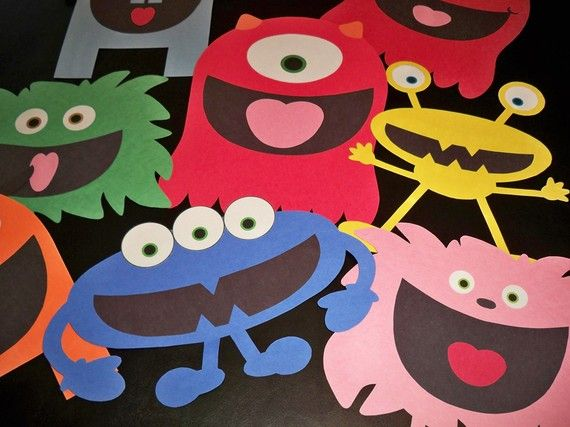 Monster Building Kit - Print, cut out and create fun loveable monster for a party activity or just for fun!