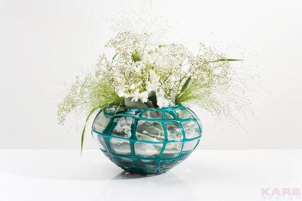 Vase Mesh Teal 15cm