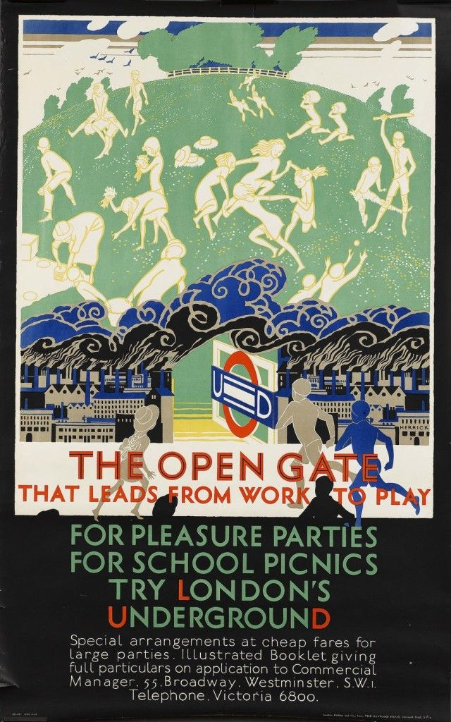 1920s London Underground Posters Remind Us That Trains Are Wonderful