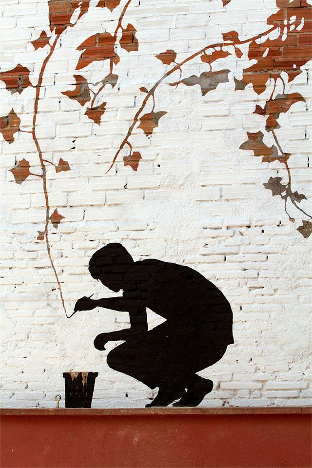 Subtractive Street Art by Pejac on the Streets of Spain trees street art painting