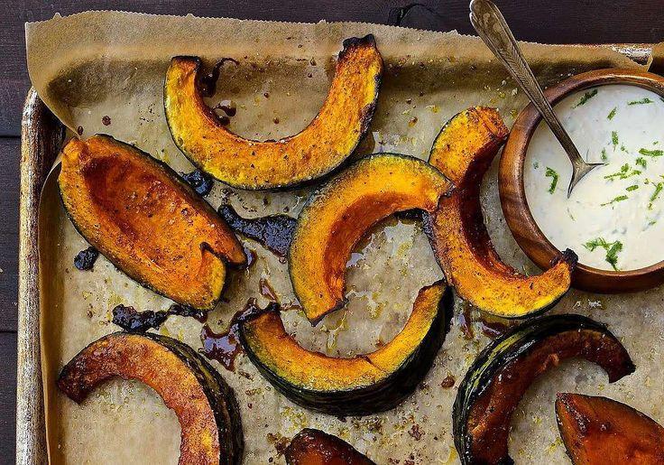 Get the recipe: roasted kabocha squash with crème fraiche - Lieslicious