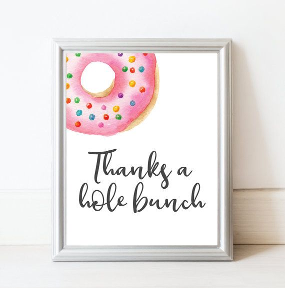 Donut Baby Shower Decor - Gift Table Sign - Favor Table Sign - Donut Party Sign by LittleCreekCreative on Etsy