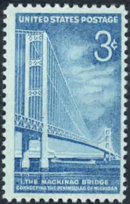 3 cent - 1958 Mackinac Bridge Stamp