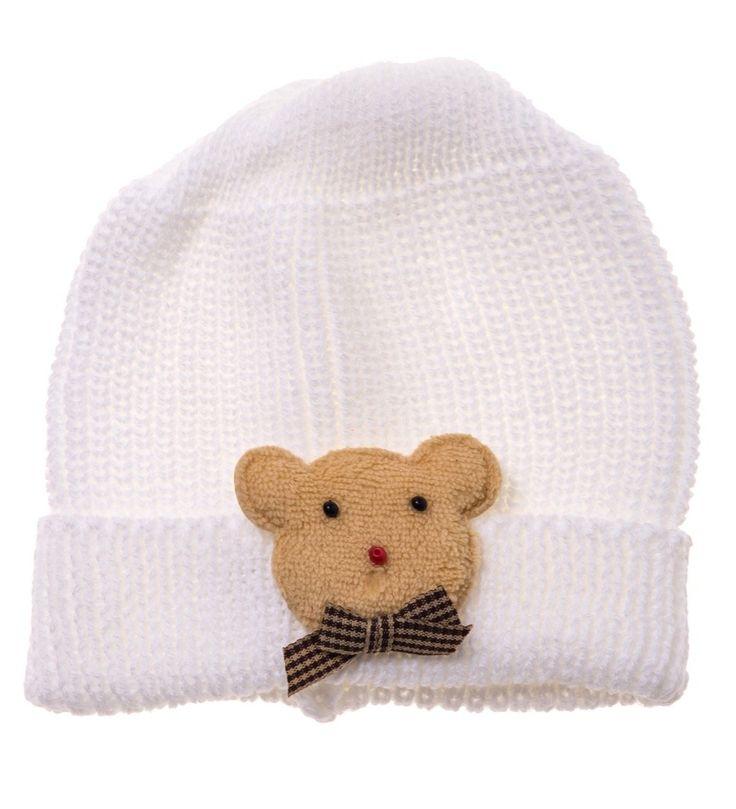 ΑΖ παιδικό πλεκτό σκουφάκι «Bear» Κωδικός: 17809  €4,50