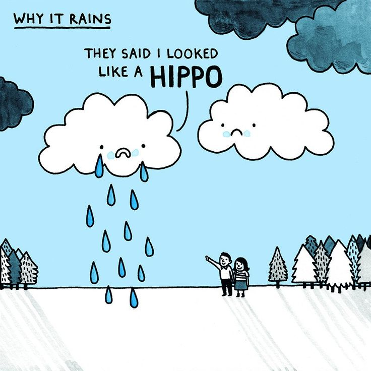 Why It Rains Square Greeting Card | Ohh Deer